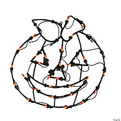 Northlight Pack of 4 Lighted Pumpkin Thanksgiving Window Silhouette Decoration 18