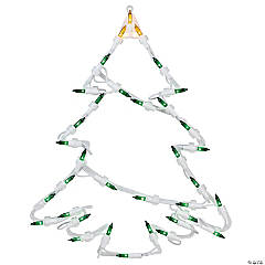 Northlight - Pack of 4 Lighted Tree Christmas Window Silhouette Decoration 15