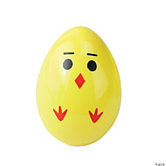 Northlight Pack of 8 Yellow and Red Chick Easter Egg Decors 2.5