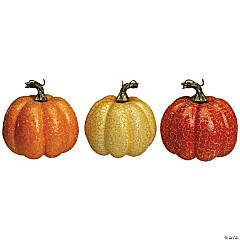 Northlight Set of 3 Orange and Cream Artificial Fall Harvest Pumpkins