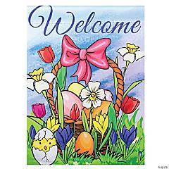 Northlight Welcome Easter Basket Outdoor Garden Flag 12.5