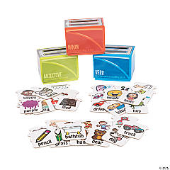 Nouns, Verbs & Adjectives Sorting Boxes
