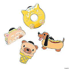 Novelty Food Animal Pins