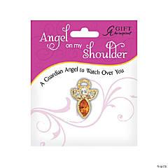 November Birthstone Angel On My Shoulder Pin