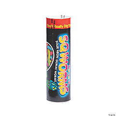 Nuclear Sqworms™ Sour Gummi Candy Tube Bank