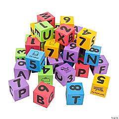 Numbers & Letters Foam Blocks