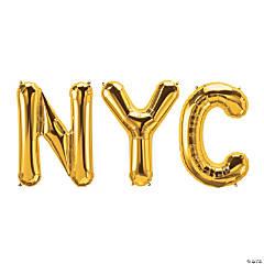 NYC Gold Mylar Balloon Kit