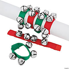 Nylon & Metal Jingle Bell Bracelets PDQ