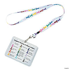 Nylon Awareness Lanyards with Card