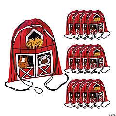 Nylon Barnyard Drawstring Bags