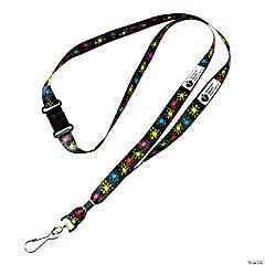 Nylon Blue Awareness Ribbon Badge Holders