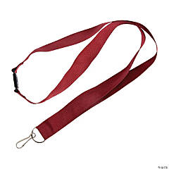Nylon Burgundy Breakaway Lanyards