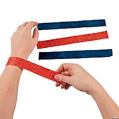 Nylon Cowboy Bandana Print Slap Bracelets