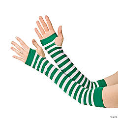 Nylon Green & White Team Spirit Arm Sleeves