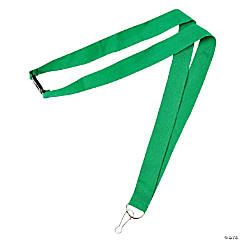 Nylon Green Lanyards