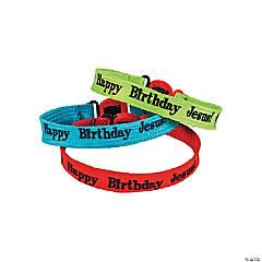"""Nylon """"Happy Birthday Jesus!"""" Friendship Bracelets"""