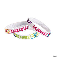 "Nylon ""He Lives!"" Elastic Message Bracelets"