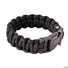 Nylon Large Black Paracord Bracelets