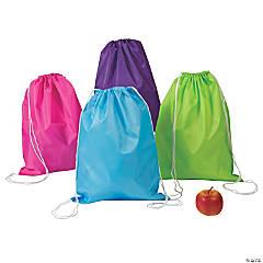 Nylon Large Bright Color Drawstring Bags