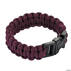 Nylon Large Burgundy Paracord Bracelets