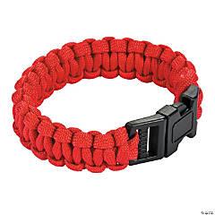 Nylon Large Red Paracord Bracelets