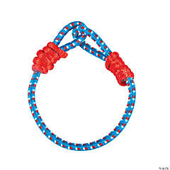 Nylon Patriotic Elastic Cord Bracelet Craft Kit