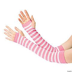 Nylon Pink & White Team Spirit Arm Sleeves