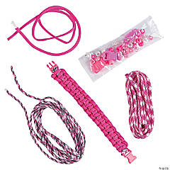 Nylon Pink Paracord Bracelet Craft Kit
