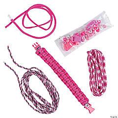 Nylon Pink Paracord Bracelet Craft Kit
