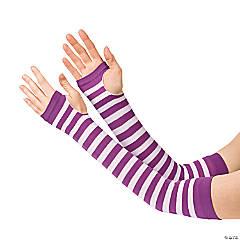 Nylon Purple & White Team Spirit Arm Sleeves
