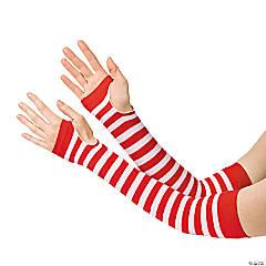 Nylon Red & White Team Spirit Arm Sleeves
