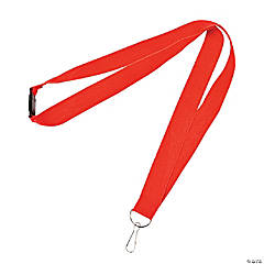 Nylon Red Lanyards