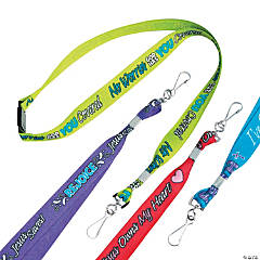 Nylon Religious Sayings Lanyards