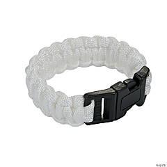 Nylon Small White Paracord Bracelets