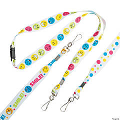 Nylon Smile Face Breakaway Lanyards