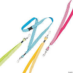 Nylon Striped Lanyards