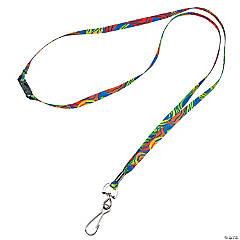 Nylon Tie-Dyed Lanyards