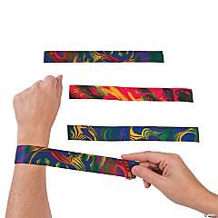 Nylon Tie-Dyed Slap Bracelets