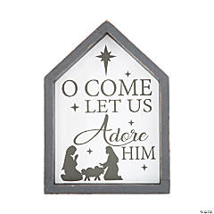 O Come Let Us Adore Him Tabletop Sign