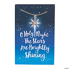 O Holy Night Star Necklaces with Card