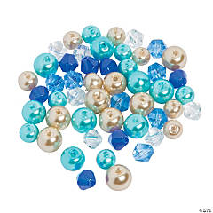 Ocean Pearl & Bicone Crystal Bead Mix