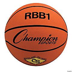 Offical Size Rubber Basketball, Orange, Set of 2