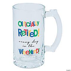 Officially Retired Glass Mug