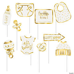 Oh Baby Gold Photo Stick Props