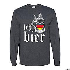 Oktoberfest Ich Heart Bier Adult's T-Shirt - Large