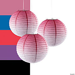 Ombre Hanging Paper Lanterns