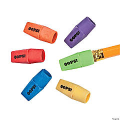 Oops Pencil Top Erasers - 48 Pc.