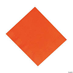 "Orange 12 7/8"" Paper Napkins (50 pc)"
