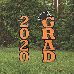 Orange 2020 Grad Yard Signs