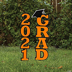 Orange 2021 Grad Yard Signs